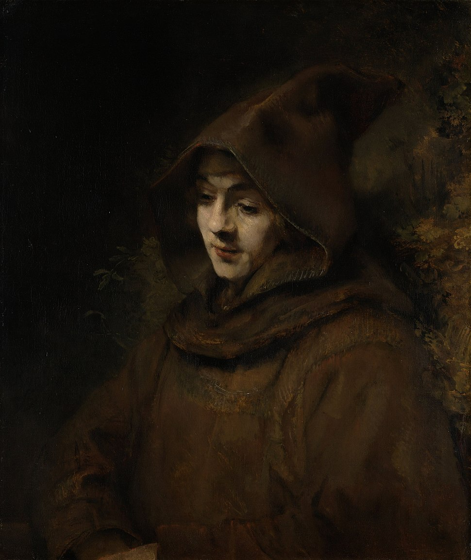 Rembrandt van Rijn - Rembrandts zoon Titus in monniksdracht (Rijksmuseum Amsterdam)