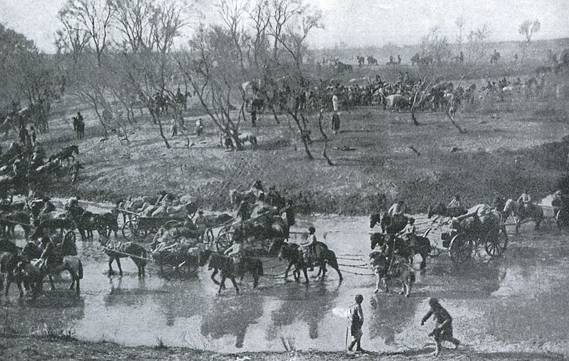 File:Retreat of the Russian Army after the Battle of Mukden.jpg