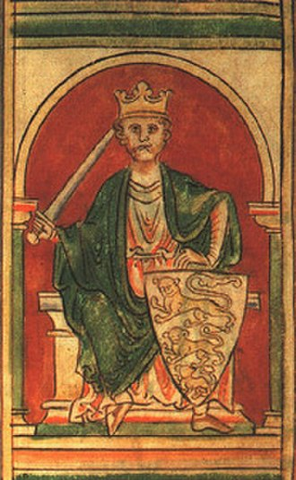 Richard Coer de Lyon - An illustration of Richard Coer de Lyon from a 12th-century codex