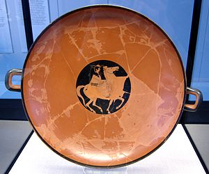 Kachrylion - Rider on a red-figure kylix by Kachrylion and Euphronios