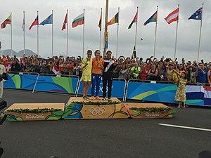 Elisa Longo Borghini - Longo Borghini after winning bronze in the women's road race at the 2016 Summer Olympics