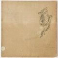 Ritning-Galjonsfigur, bevingad mansfigur hållande mansporträtt. 1756 - Sjöhistoriska museet - 1994-001-4.tif