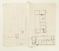 Ritningar och utkast till byggnad. Av Nils Bielkes hand, cirka 1700 - Skoklosters slott - 98153.tif