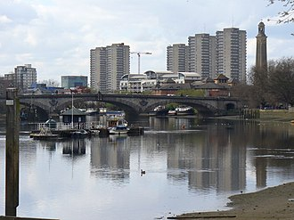 London Borough of Hounslow - Image: River Thames Below Kew Bridge geograph.org.uk 1230475