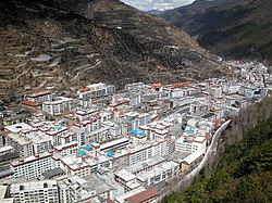 View of Kangding Town