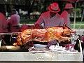 Roasted pig in meat shop.jpg