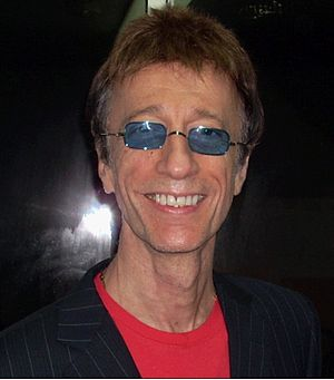 Robin Gibb at the Meet & Greet after the Dubai...