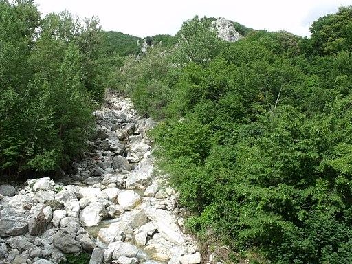 Le cascate del fiume Albegna a Roccalbegna