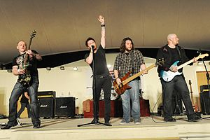 Saving Abel - Saving Abel performed for service members at an undisclosed Southwest Asia location.