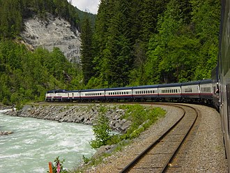 Luxury train - Between Banff, Alberta and an overnight stop in Kamloops