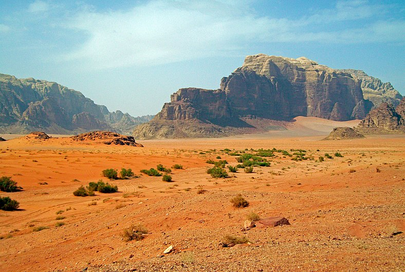 Rocky desert scene in Wadi Rum.jpg