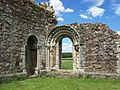 Romanesque doorway, Haughmond Abbey.jpg