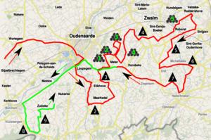 2013 Tour of Flanders - Image: Ronde van Vlaanderen 2013 lap 1