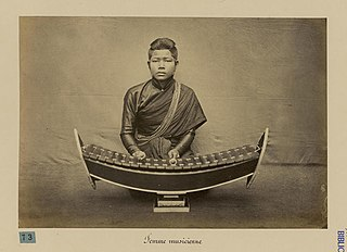 Roneat ek A Cambodian xylophone made from bamboo. It is stylized to have sharp endboards.