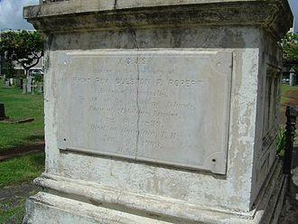 Gulstan Ropert - Grave stone of Msgr. Ropert at the Honolulu Catholic Cemetery