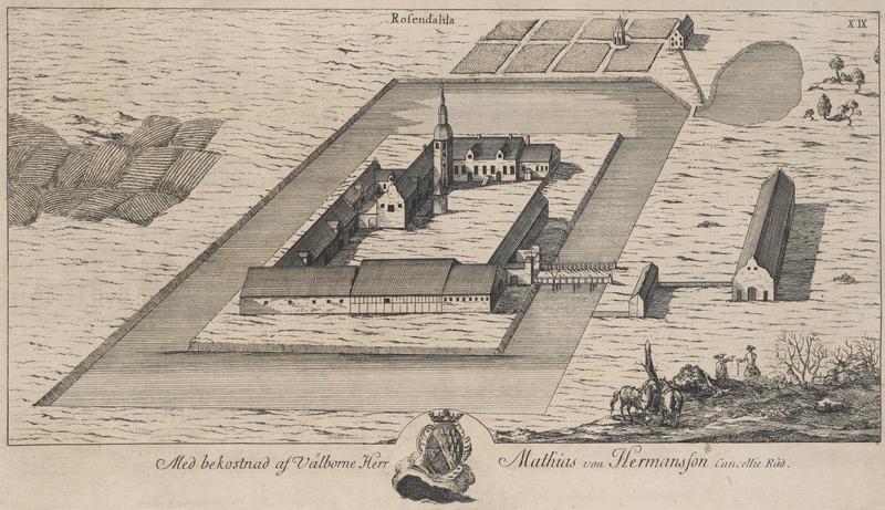 File:Rosendal Castle in 1680.tif