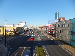 Japan National Route 126 - Image: Route 126 Togane city 1