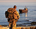 Royal Marine Waits for Pickup by Landing Craft During Exrecise Cypriot Lion in the Mediterranean MOD 45152749.jpg