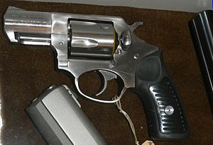 English: modern revolver Ruger SP101 cal .38 S...