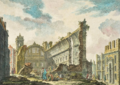Ruinas da Igreja de S. Nicolau após o Terramoto de 1755 - Jacques Philippe Le Bas, 1757.png
