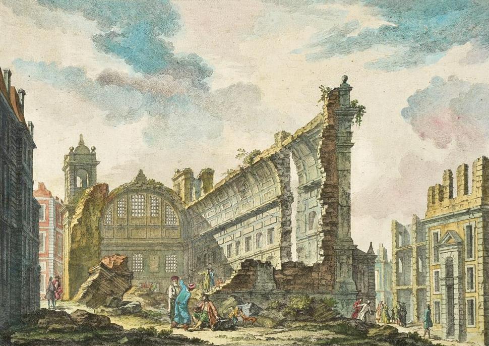 Ruinas da Igreja de S. Nicolau ap%C3%B3s o Terramoto de 1755 - Jacques Philippe Le Bas, 1757