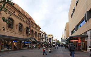 Rundle Mall - Rundle Mall looking west, 2009, with Regent Arcade on the left and David Jones on the right.