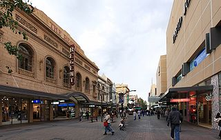 Rundle Mall pedestrian street mall in Adelaide, South Australia