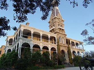 Sunbury, Victoria - The front of the Rupertswood mansion, located in the Rupertswood Estate, Sunbury