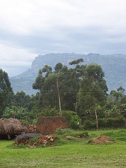 Near the grounds of Mbale Pentecostal Theological College