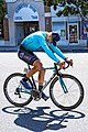 Ruslan Tleubayev of Astana before the start of Stage 2 in Modesto (34906946531).jpg