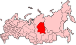 Map showing Evenkia in Russia