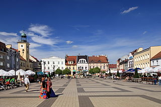 Rybnik Place in Silesian, Poland