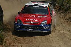 Sébastien Loeb at the 2004 Cyprus Rally
