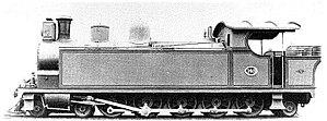South African Class H 4-10-2T - Image: SAR Class H 149 (4 10 2T)