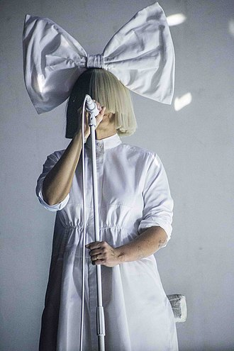 Sia (musician) - Sia in 2016; she covers most of her face at concerts and on TV