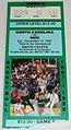 SMU Mustangs at North Carolina Tar Heels men's basketball 1987-12-12 (ticket).JPG