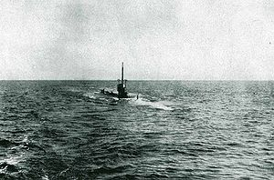SM U-35 (Germany) - SM U-35 on the surface in the Mediterranean