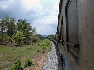 Rail transport in Thailand - A train belonging to the Northern Line of the State Railway of Thailand en route to Chiang Mai from Bangkok.