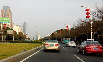 Shennan Road - Image: SZ Shennan Blvd Futian Section