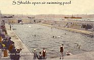 S Shields open air swimming pool