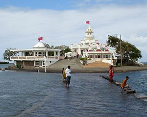 Hinduism in Mauritius - Image: Sagar Shiv Mandir 1