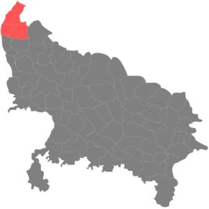 Administrative divisions of Uttar Pradesh - Image: Saharanpur mandal