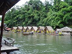 Houseboats in Sai Yok