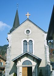 The church in Saint-Jean-de-Sixt