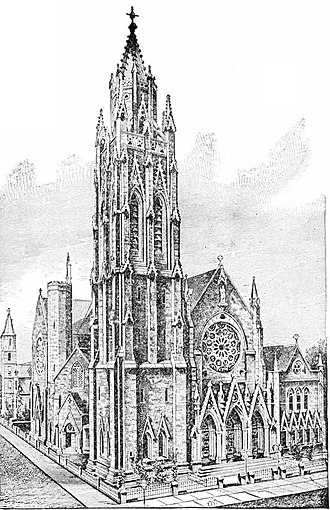 Saint Thomas Church (Manhattan) - Saint Thomas Church c. 1889 (third church)