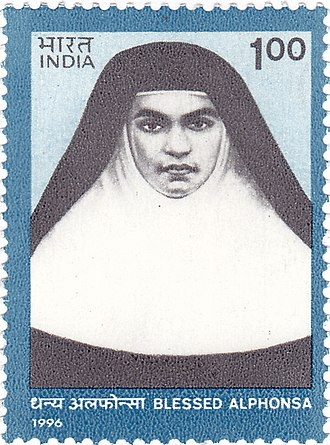 Saint Alphonsa - Saint Alphonsa on a 1996 stamp of India