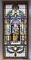 Saint Joseph stained glass window in the Saint Antony church in St. Ulrich in Gröden.jpg