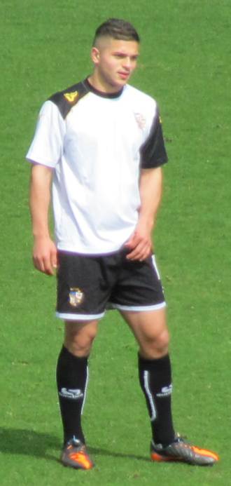 Sam Morsy - Morsy warming up for Port Vale in 2013