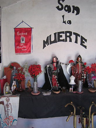 San La Muerte - Argentine altar to San La Muerte.