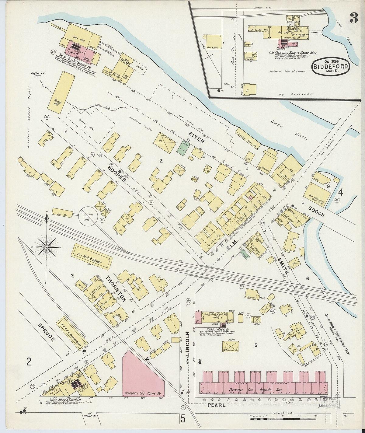 File Sanborn Fire Insurance Map From Biddeford York County Maine Loc Sanborn03433 003 3 Jpg Wikimedia Commons